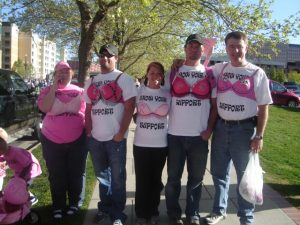 A Group of Walkers Dressed Up for the Cause